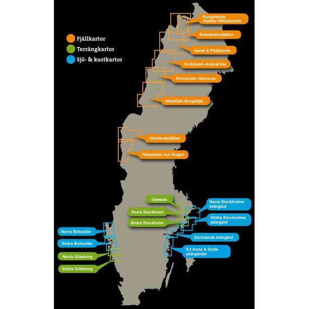 Calazo Kittelfjäll - Borgafjäll 1:100 000