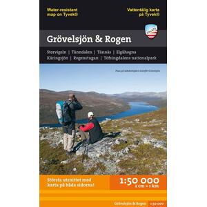 Calazo Grövelsjön och Rogen 1:50 000