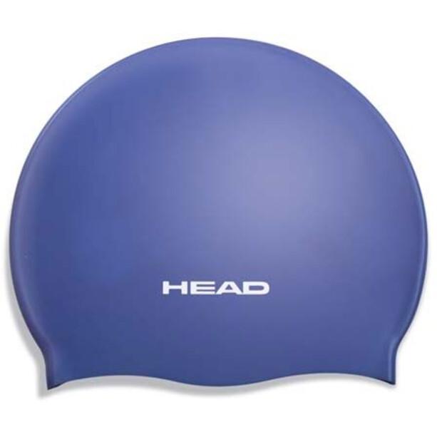 Head Silicone Moulded Swimcap blue
