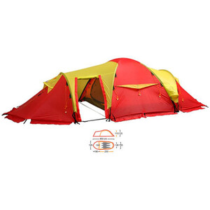 Helsport Svalbard 3 High Camp red/yellow red/yellow