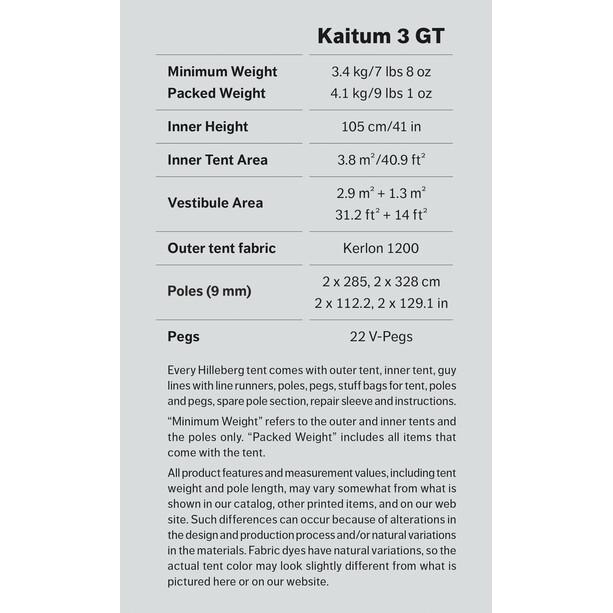 Hilleberg Kaitum 3 GT grön