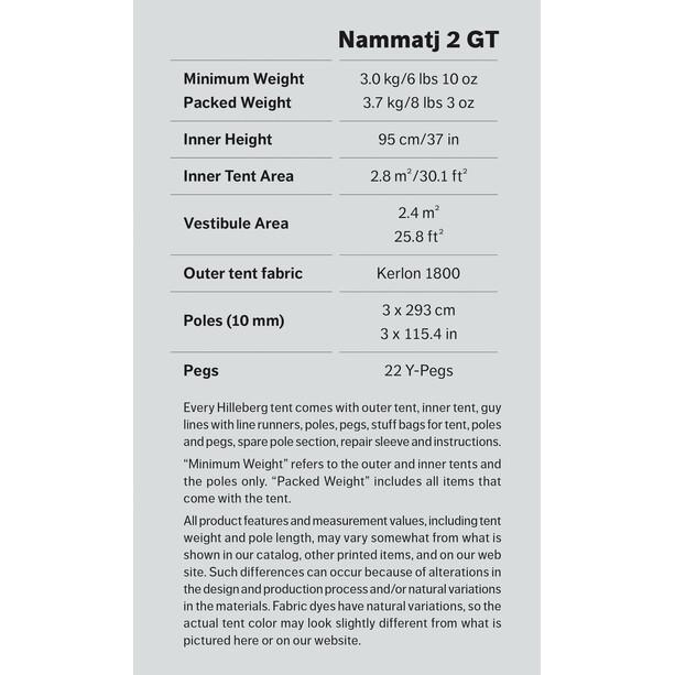 Hilleberg Nammatj 2 GT grön