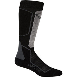 Icebreaker Ski+ Light OTC Socks Herr oil/black/silver oil/black/silver
