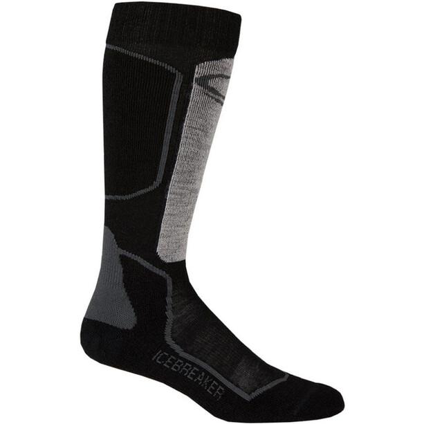 Icebreaker Ski+ Light OTC Socks Herr oil/black/silver