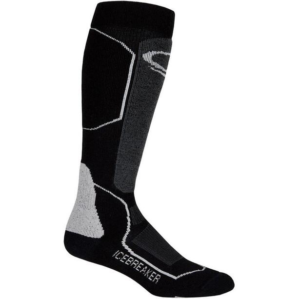 Icebreaker Ski+ Medium OTC Socks Dam black/oil/silver