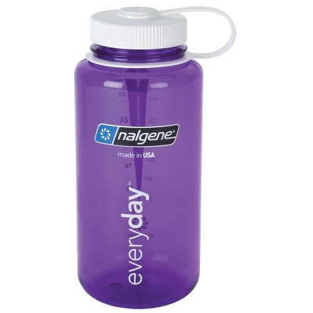 Nalgene Wide Mouth Bottles 1l purple/white tritan