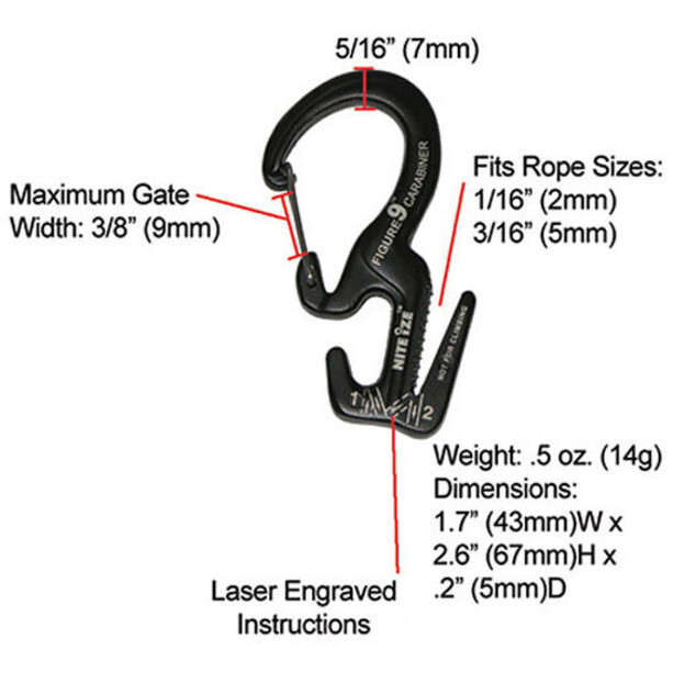 Nite Ize Figure 9 Carabiner Small black