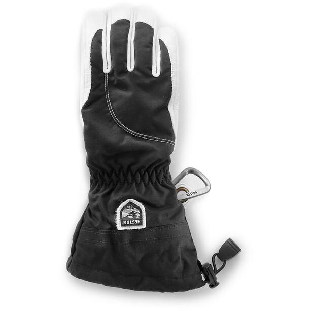 Hestra Heli Ski 5 Finger Gloves Women svart/offwhite