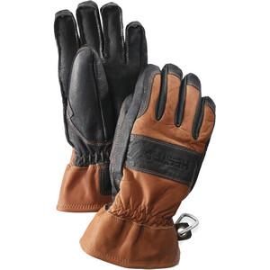 Hestra Fält Guide 5 Finger Gloves brun/svart brun/svart