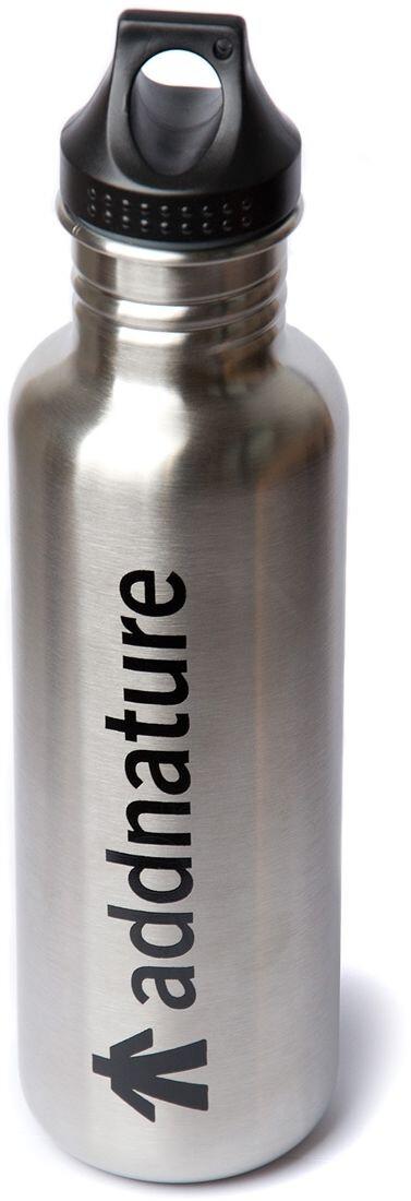 addnature Stainless Steel Bottle 800ml silveraddnature print