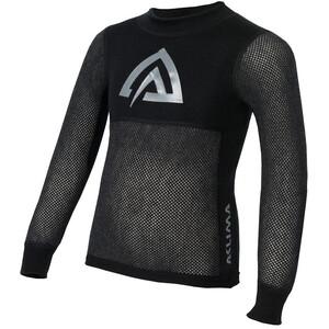 Aclima Woolnet Crew Neck Shirt Barn brace melange/black brace melange/black