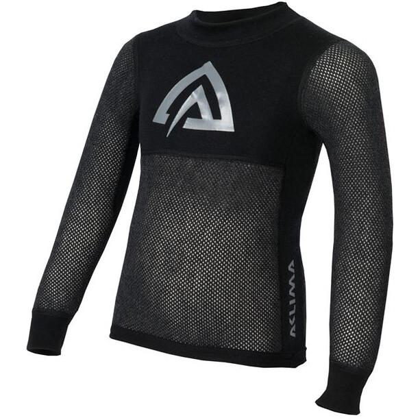 Aclima Woolnet Crew Neck Shirt Barn brace melange/black