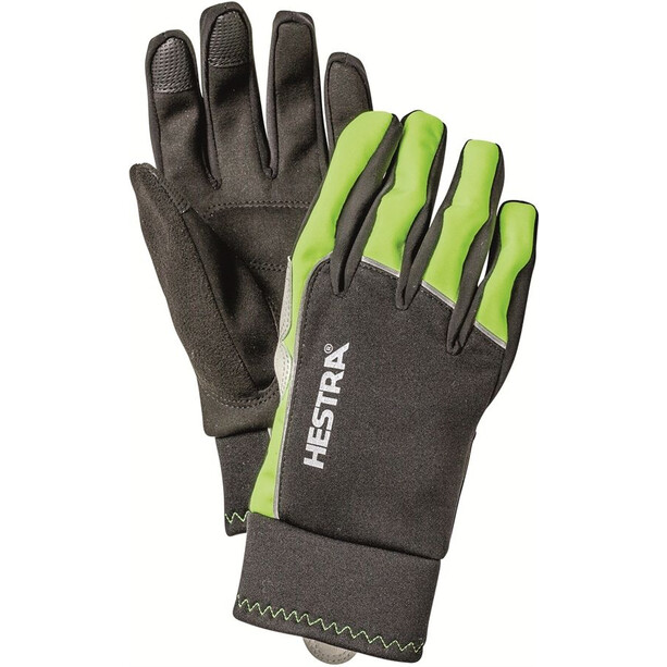 Hestra Bike WS Tracker Sr. 5 Finger Gloves varselgul/svart