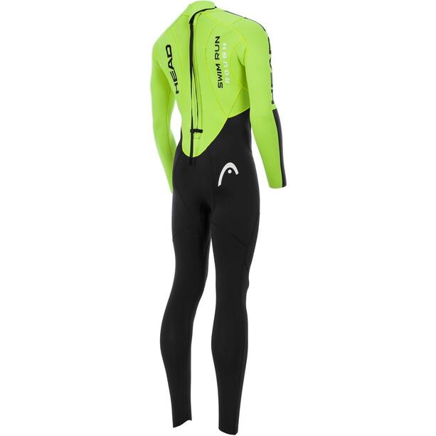 Head SwimRun Rough Suit Herr black/flourocent lime