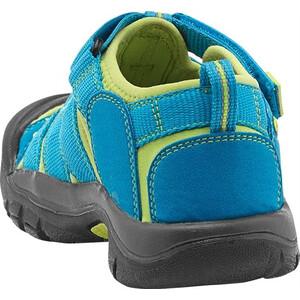 Keen Newport H2 Sandals Ungdomar hawaiian blue/green glow hawaiian blue/green glow