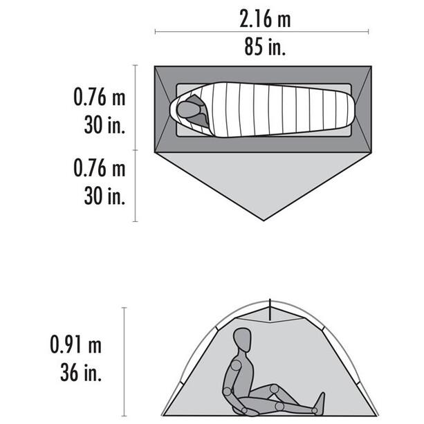 MSR Hubba NX Tent lt grey