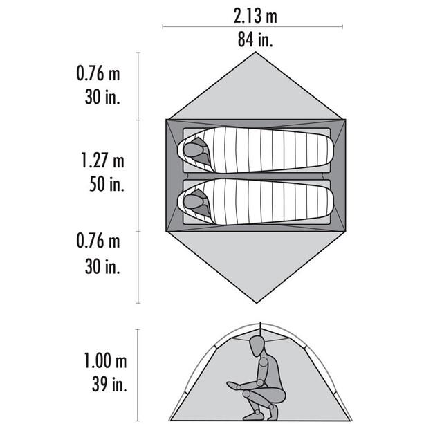 MSR Hubba Hubba NX Tent lt grey