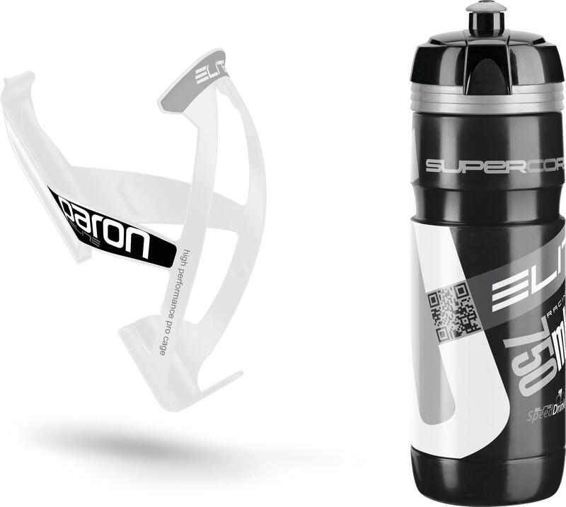 Kit Supercorsa/Paron Trinkflasche & Halter 750 ml schwarz/weiß 2016 Trinksysteme