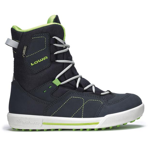 Lowa Raik GTX Mid-Cut Schuhe Kinder navy/limone