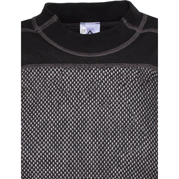 Aclima Woolnet T-paita Miehet, musta