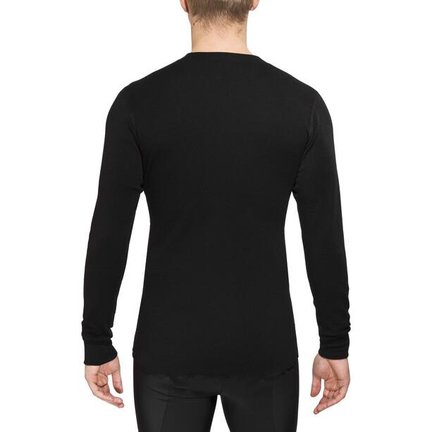 Aclima Warmwool Granddad Shirt Herren jet black