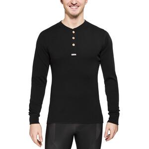 Aclima Warmwool Granddad Shirt Herren jet black jet black