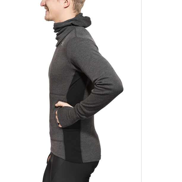 Aclima Warmwool Kapuzensweater Herren marengo/jet black