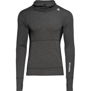 Aclima Warmwool Hood Sweater Herren marengo/jet black marengo/jet black