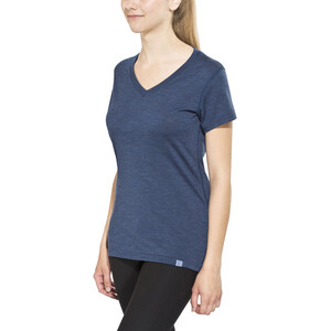 Bergans Bloom Wool Tee Women, navy melange navy melange