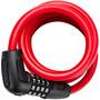 ABUS Numero 5510C/180/10 Spiral Cable Lock SCMU red