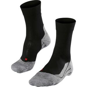 Falke RU4 Chaussettes de running Homme, noir/gris noir/gris