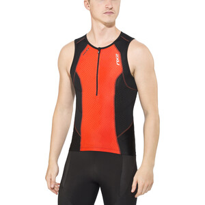 2XU Perform Tri Singlet Herrer, desert red print/black desert red print/black