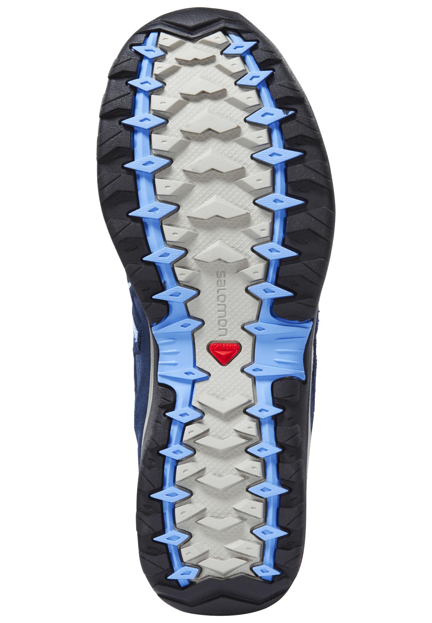 Salomon Ellipse 2 Aero Wanderschuhe Damen titaniumdeep bluepetunia blue