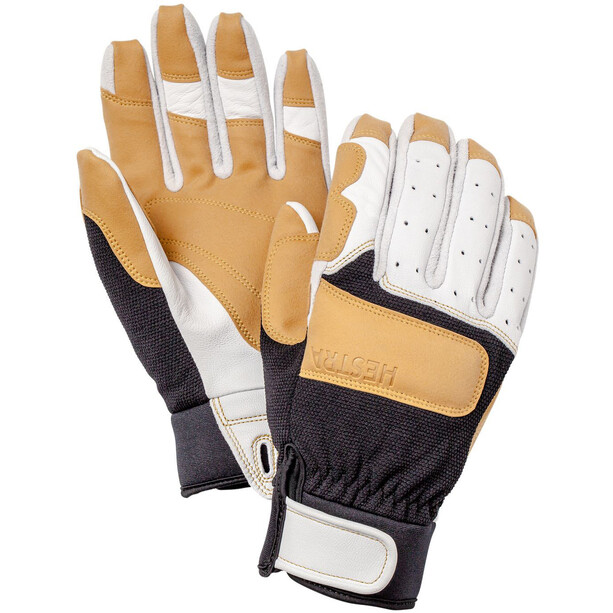 Hestra Climbers Long 5 Finger Gloves offwhite/svart
