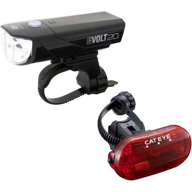 CatEye GVOLT20/OMNI3G Beleuchtungs Set EL350G/LD135G schwarz