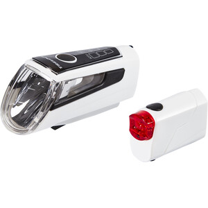 Trelock LS 560 I-GO CONTROL+LS 720 REEGO Akkubeleuchtung Set weiß weiß