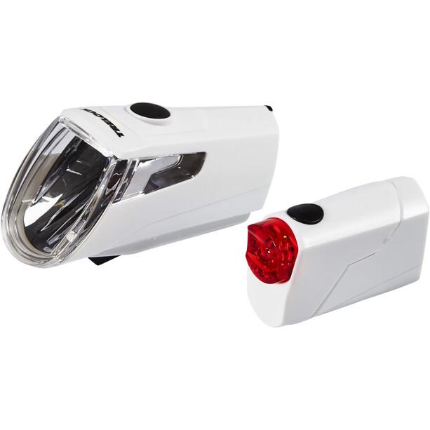 Trelock LS 360 I-GO ECO+LS 720 REEGO Akkubeleuchtung Set weiß