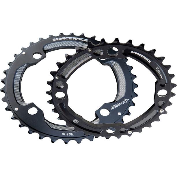 Race Face Turbine Chainring Set 4-bolt 24/34 2x11-delt black