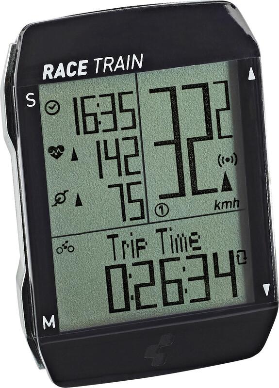 Cube Race Train Sykkelcomputer Svart  2019 Trådløse Sykkelcomputere