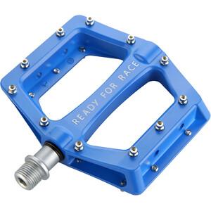 Cube RFR Flat Race Pedale blue blue