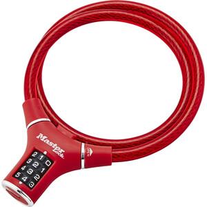 Masterlock 8229 Kabelschloss 12mm x 900mm rot rot