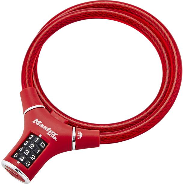 Masterlock 8229 Kabelschloss 12mm x 900mm rot