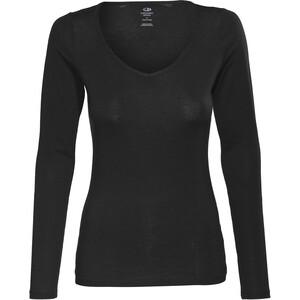 Icebreaker Siren LS Herzausschnitt Shirt Damen black black