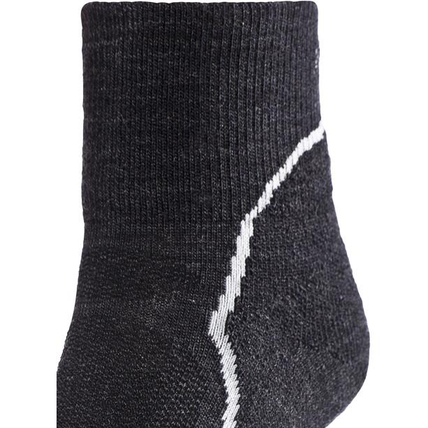 Icebreaker Hike+ Light Mini Socken Damen jet hthr/snow/black