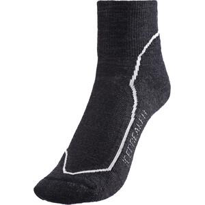 Icebreaker Hike+ Light Mini Socken Damen jet hthr/snow/black jet hthr/snow/black