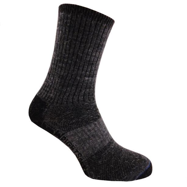 Wrightsock Merino Stride Crew-Cut Socken grey