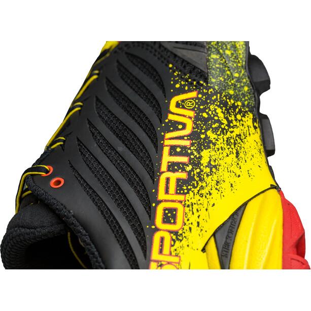 La Sportiva Akasha Laufschuhe Herren black/yellow