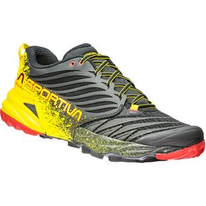La Sportiva Akasha Laufschuhe Herren black/yellow black/yellow