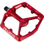 Crankbrothers Stamp 7 Large Pedale rot
