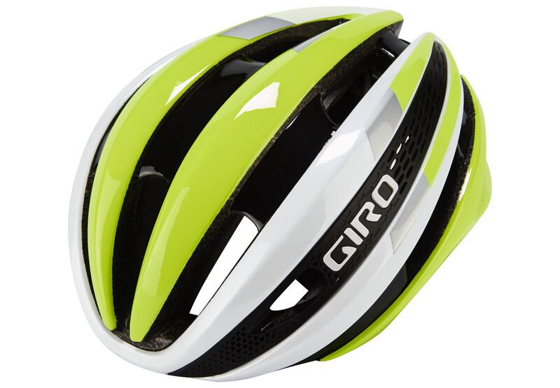 Giro Synthe Helmet white/highlight yellow 55-59 cm 2018 Fahrradhelme